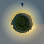 Hot Air Balloon Trip Around The Tiny Planet, Byron Bay, Australia