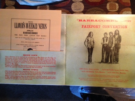 """Babbacombe"" Lee came with some fancy packaging, including a fake newspaper. Ah, the heady days of vinyl!"